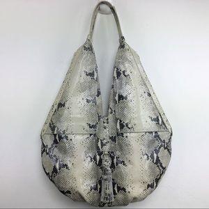Alexia Hudson Oversized Snake Leather Bag